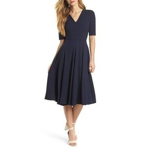 GAL MEETS GLAM Blue Edith City Dress Size 0